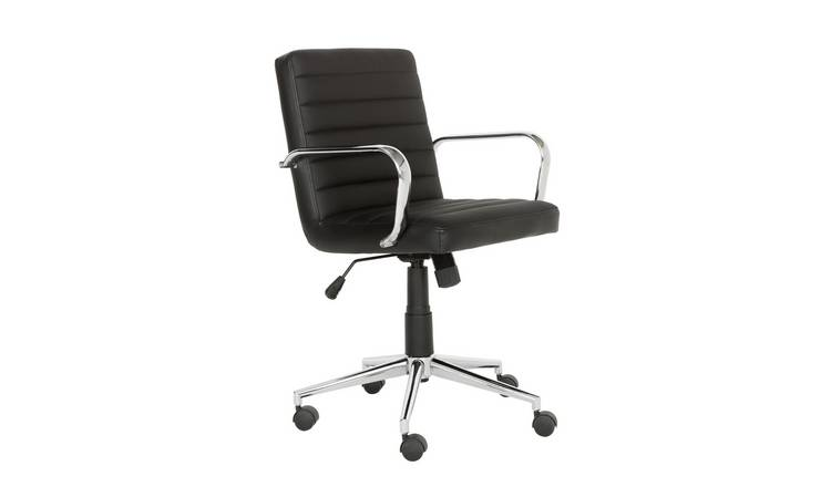 Argos Home Alvar Faux Leather Office Chair - Black