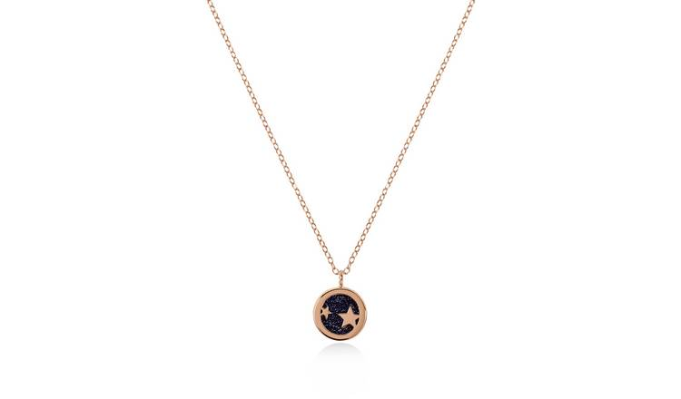 Radley 18ct Rose Gold Plated Celestial Blue Pendant Necklace