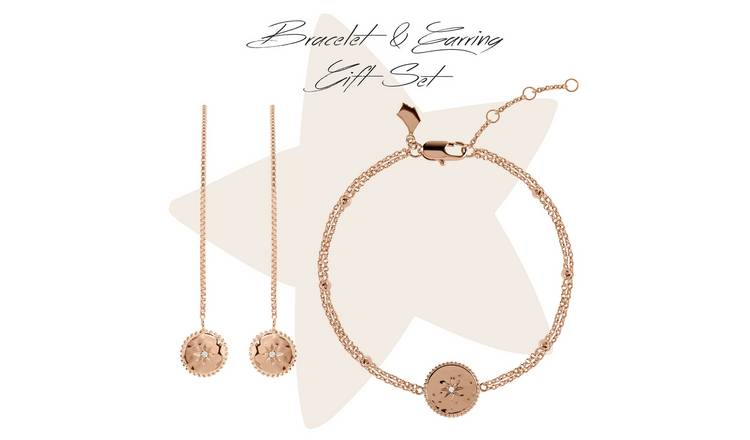 Radley 18ct Rose Gold Plated Bracelet & Earring Set