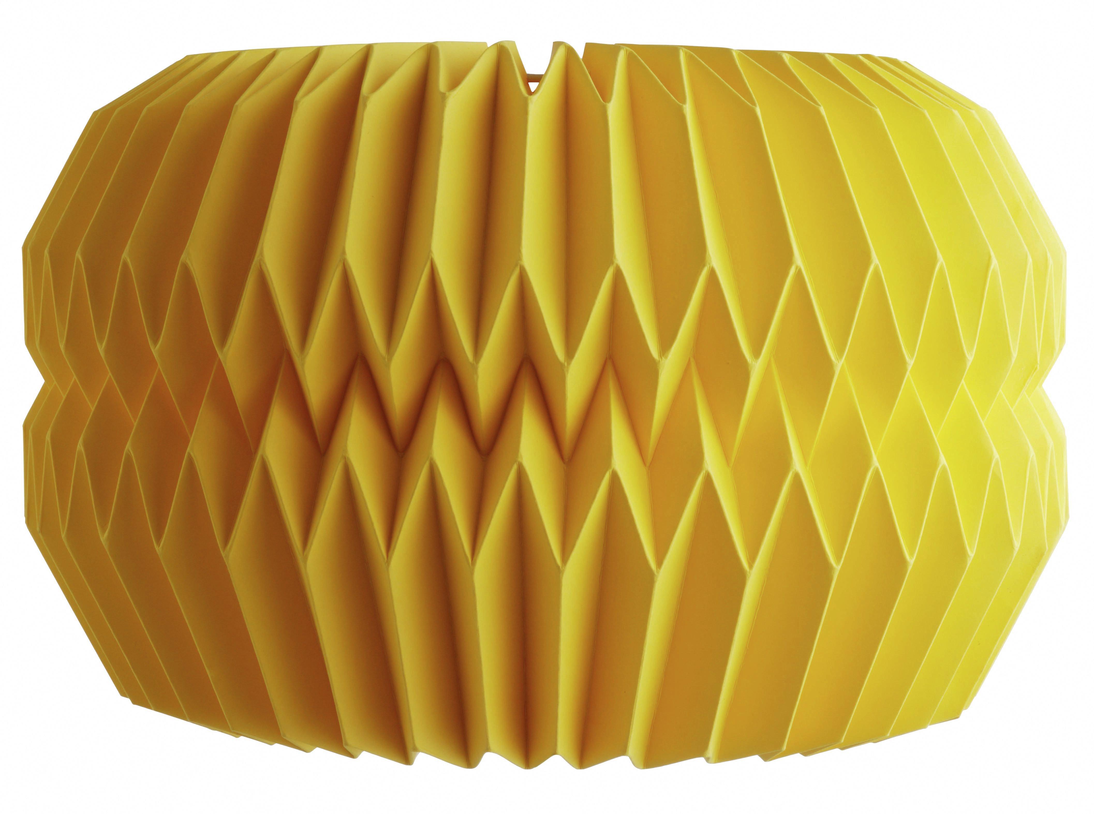 Habitat Kura 42x27cm Paper Drum Shade - Yellow.