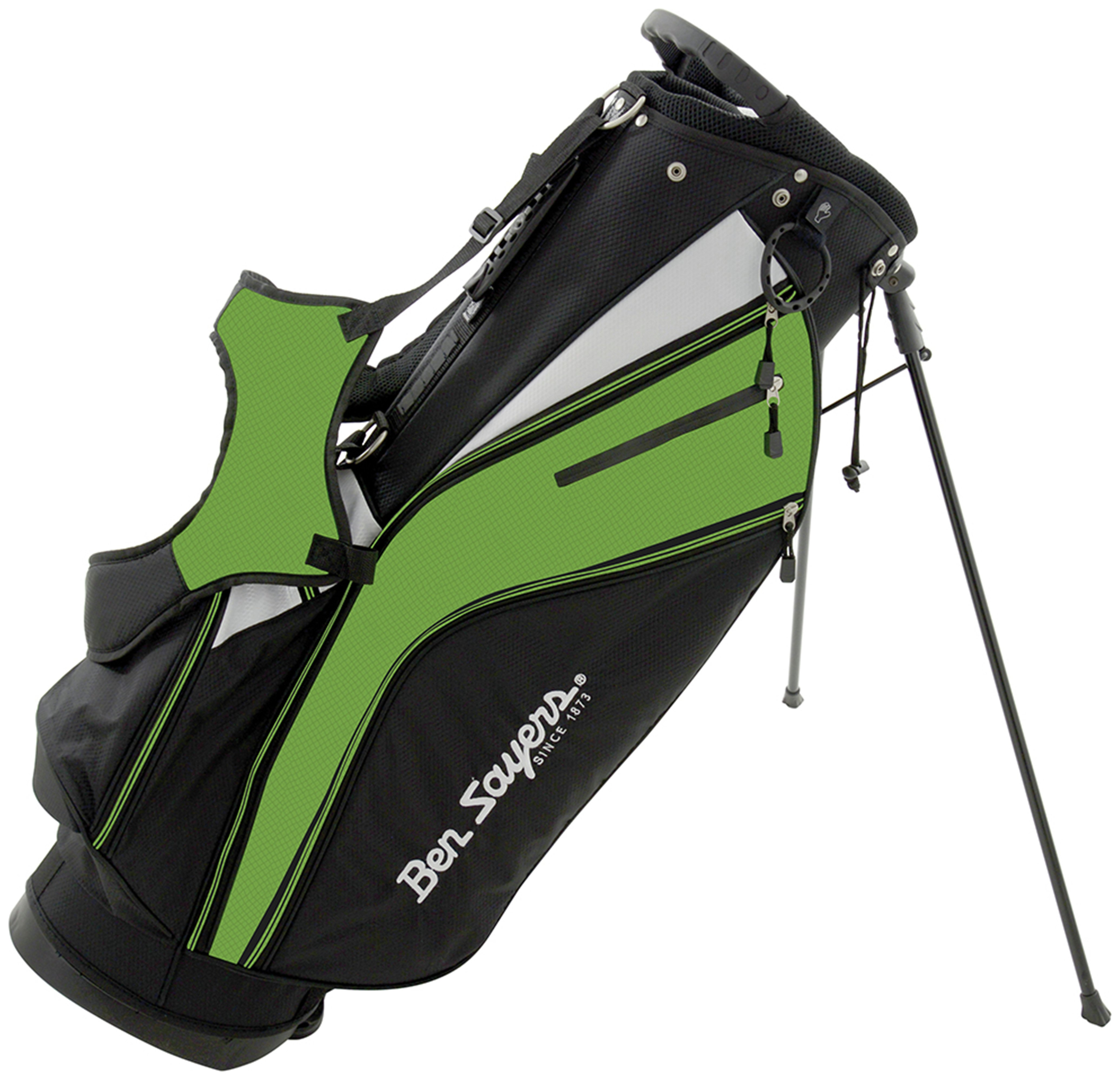 Ben Sayers X-Lite Stand Bag - Black/Lime