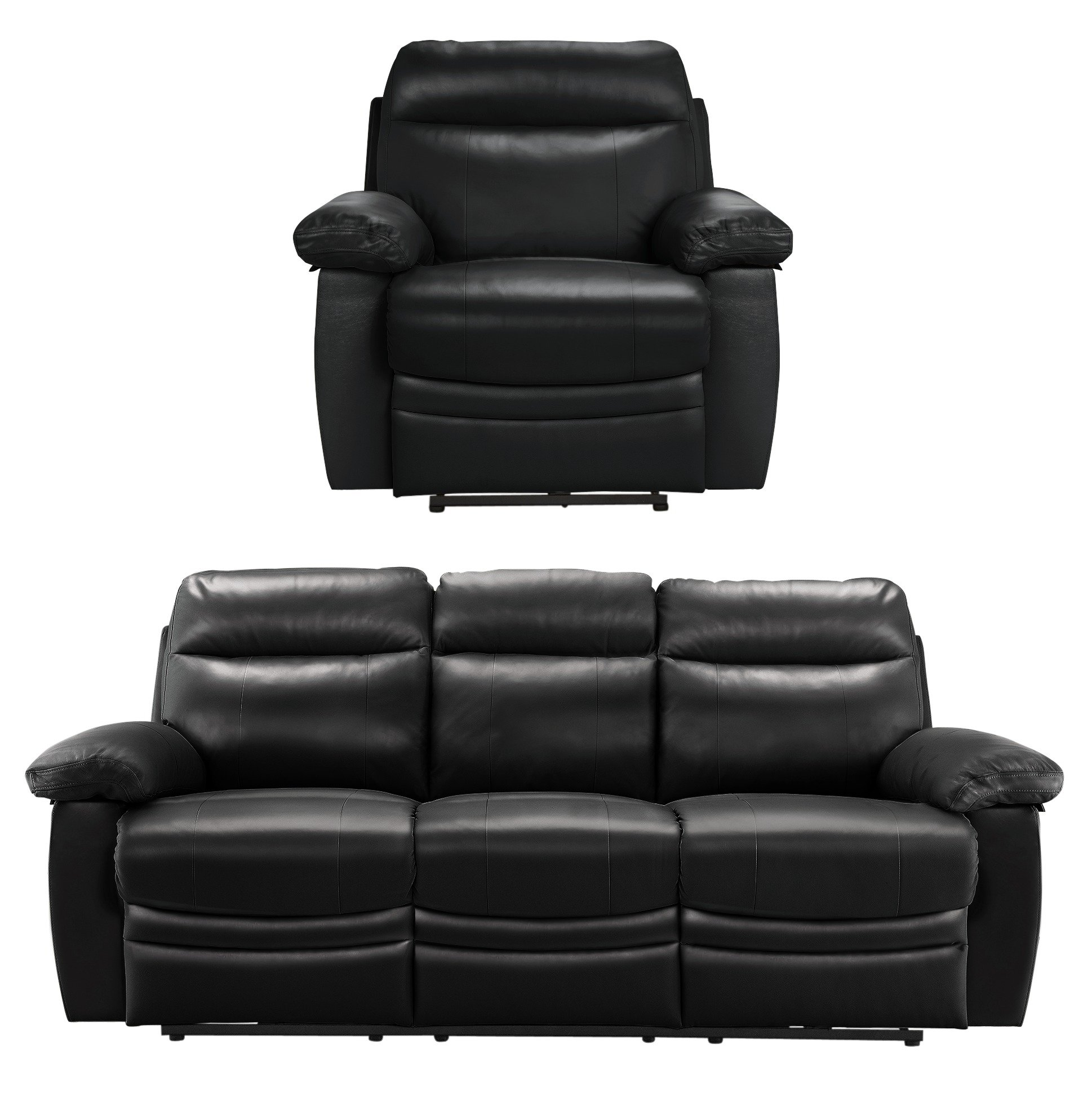 Argos Home - New Paolo Large Power Recliner - Sofa/Chair - Black