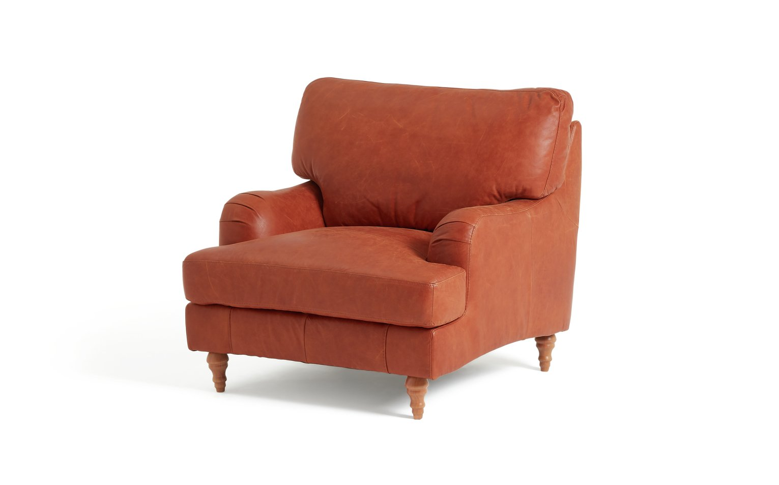 Argos Home Livingston Leather Armchair - Tan
