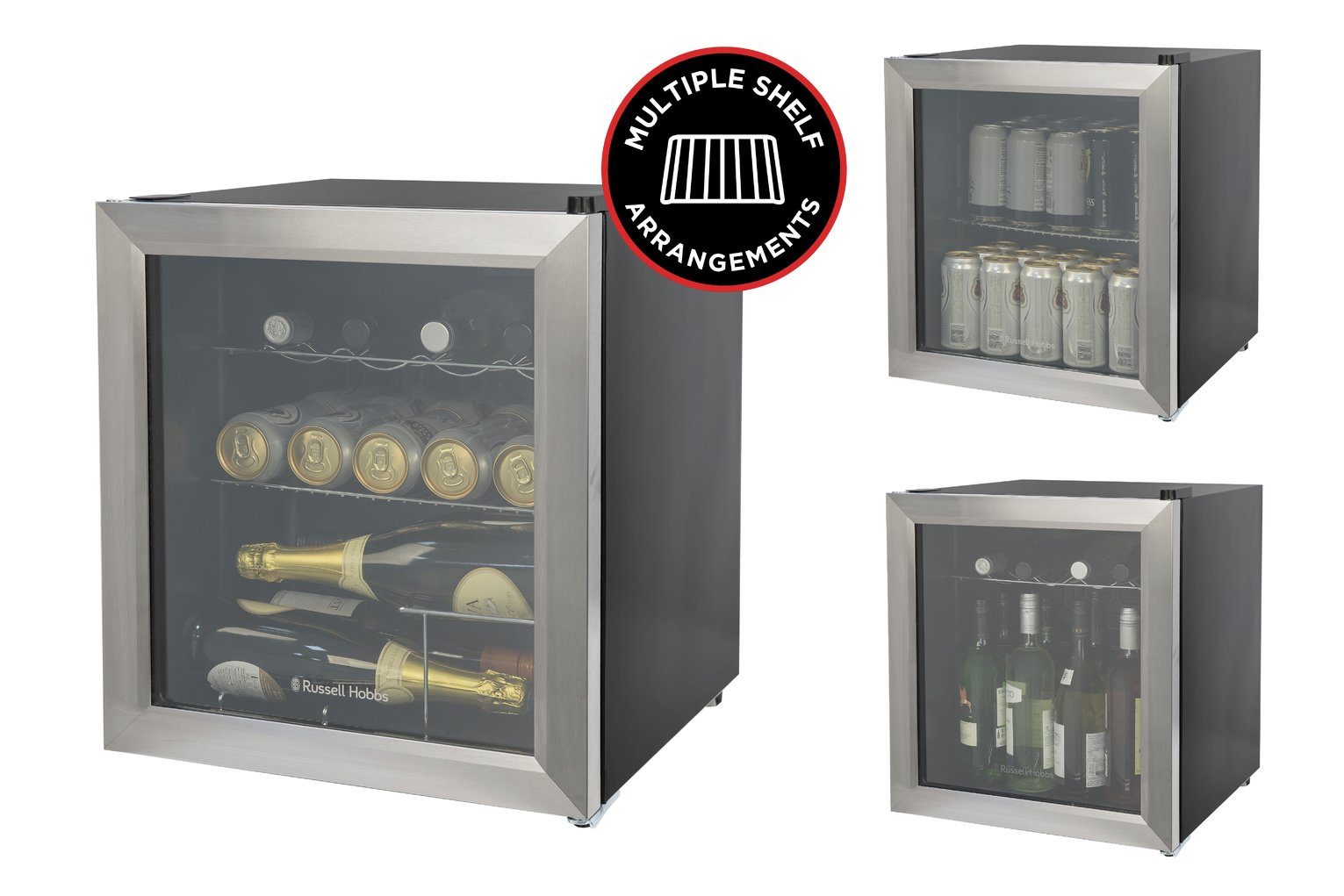 Russell Hobbs 12 Bottle Wine Cooler - Stainless Steel