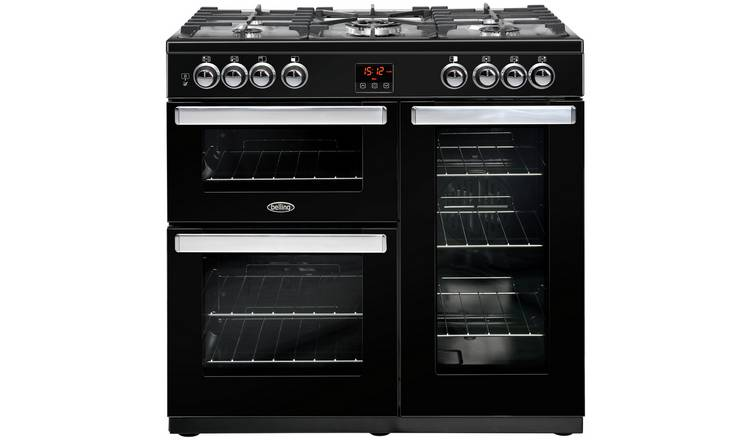 Belling Cookcentre 90DFT 90cm Dual Fuel Range Cooker - Black