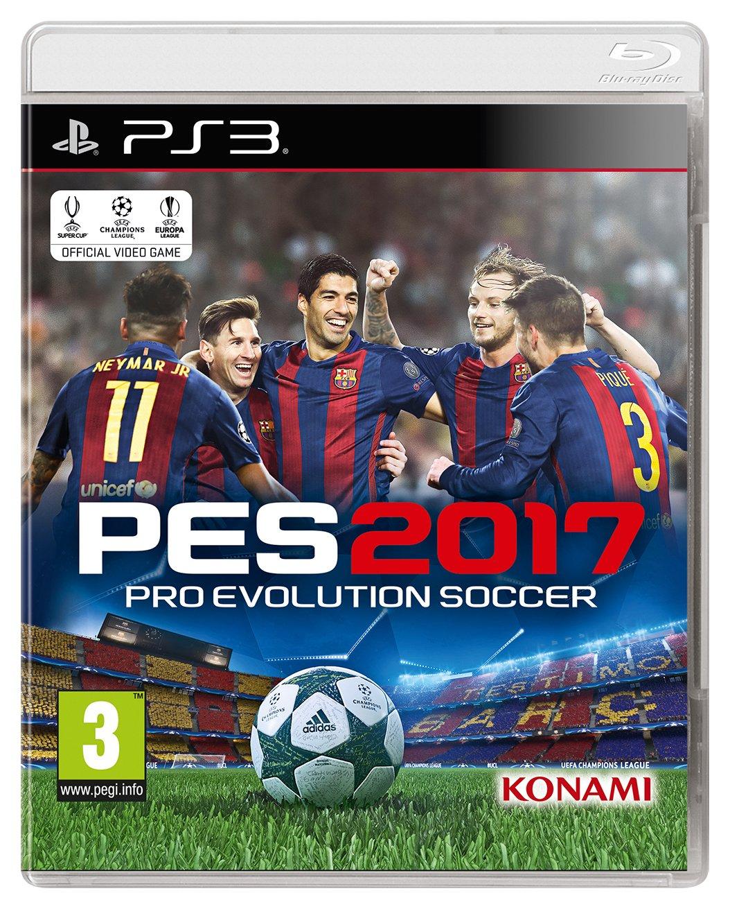Konami Pro Evolution Soccer 2017 PS3 Game.