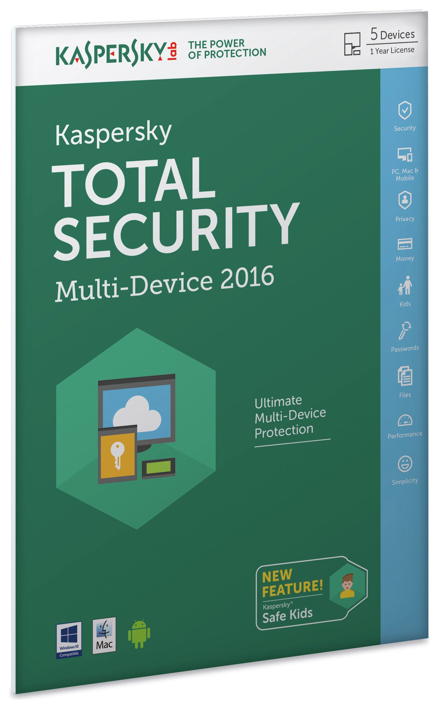 Image of Kaspersky TS 2016 1 Year 5 Device Internet Security.
