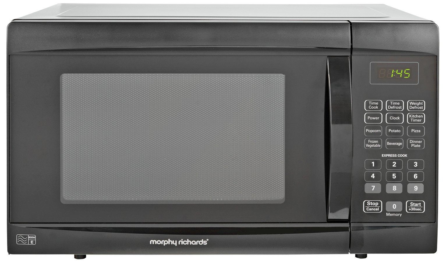 Morphy Richards 800W Standard Microwave EM823AGS - Black