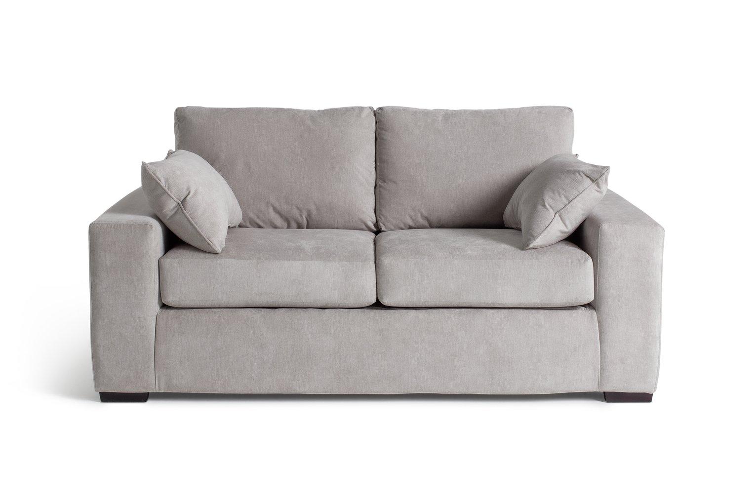 Argos Home Eton 2 Seater Fabric Sofa Bed - Grey
