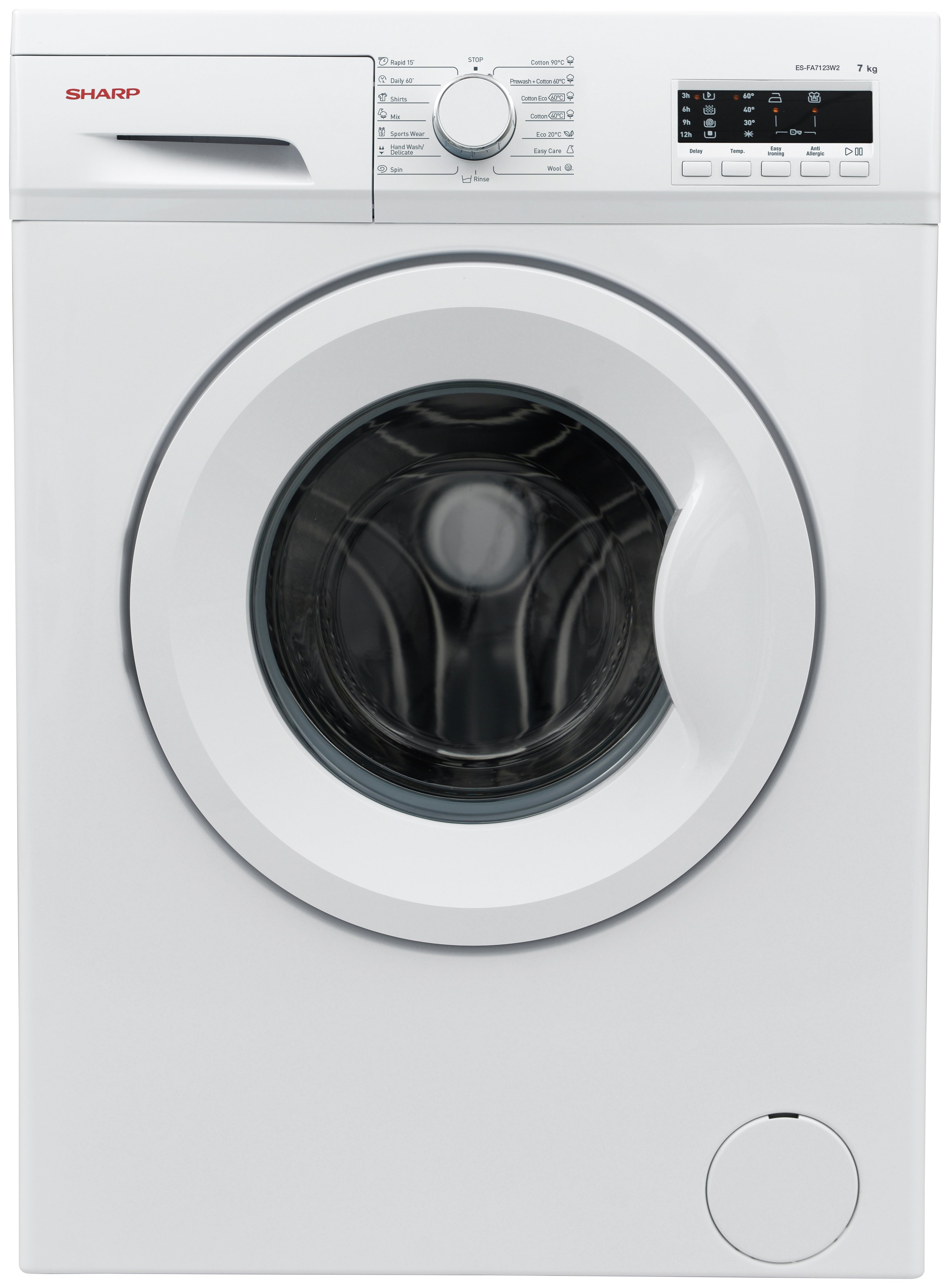 Image of Sharp - FA7123W2 7KG - Washing Machine