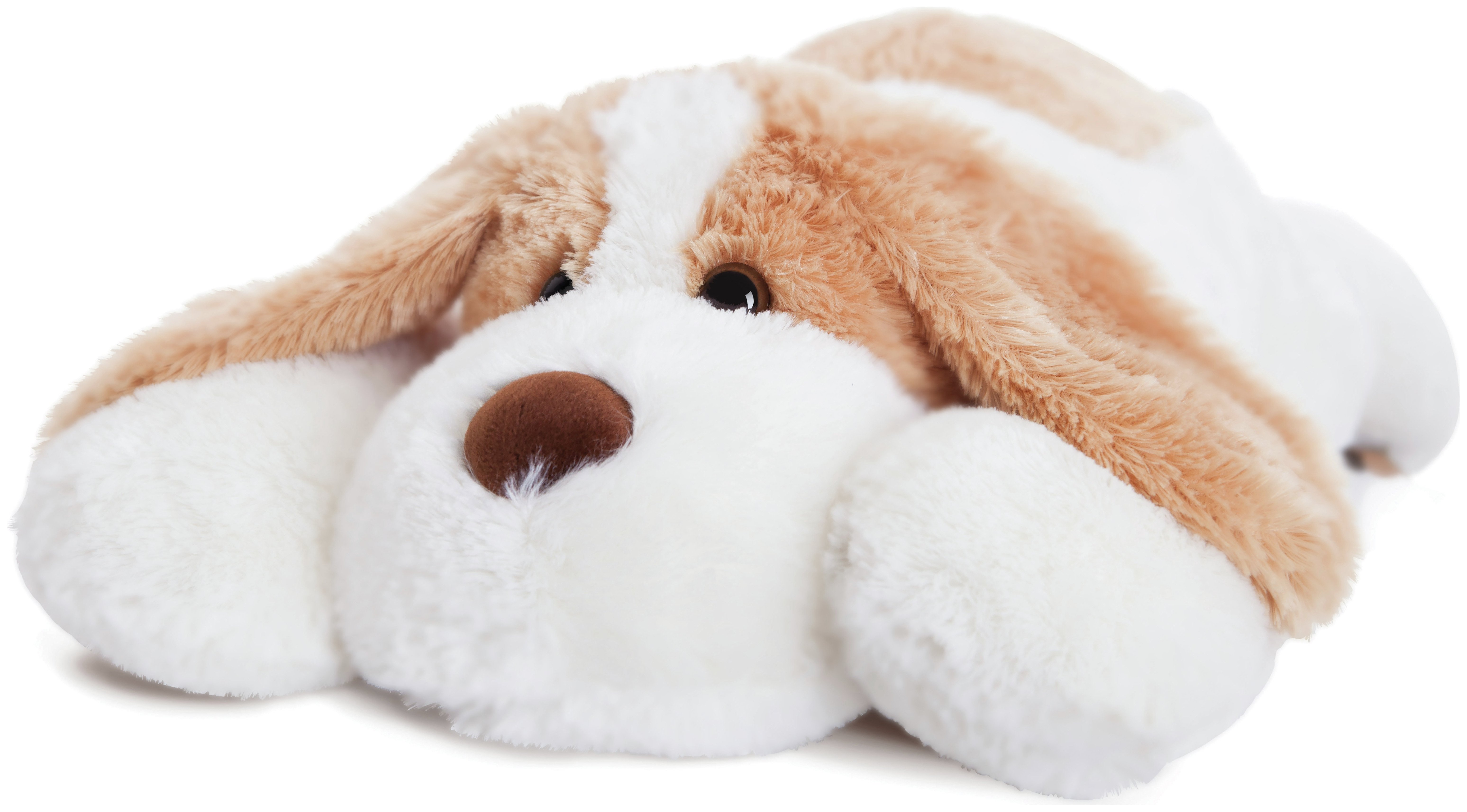 Image of Aurora - 40inch Jale Brown - Plush Dog - White