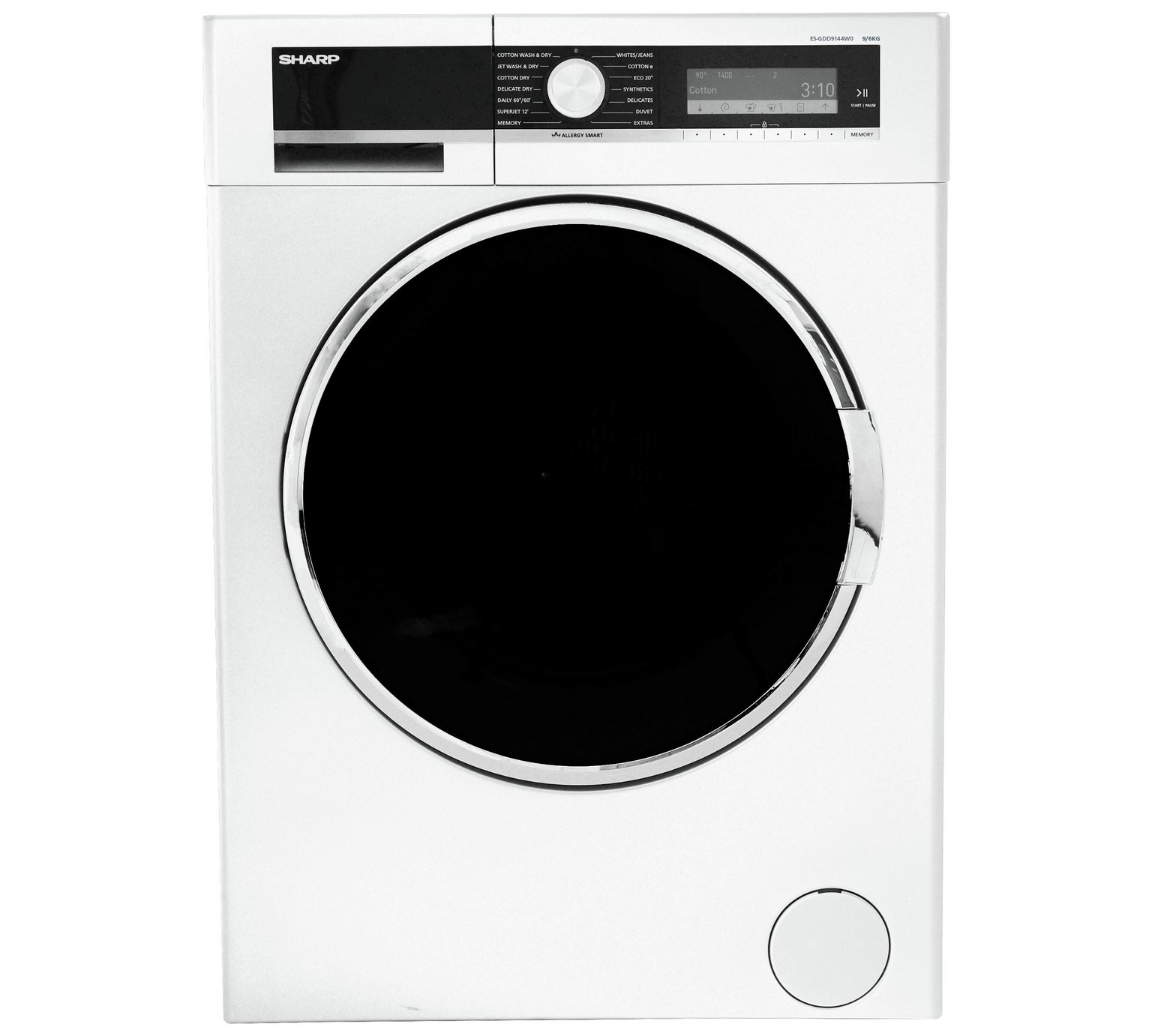 Sharp GDD9144W0 9KG Washer Dryer