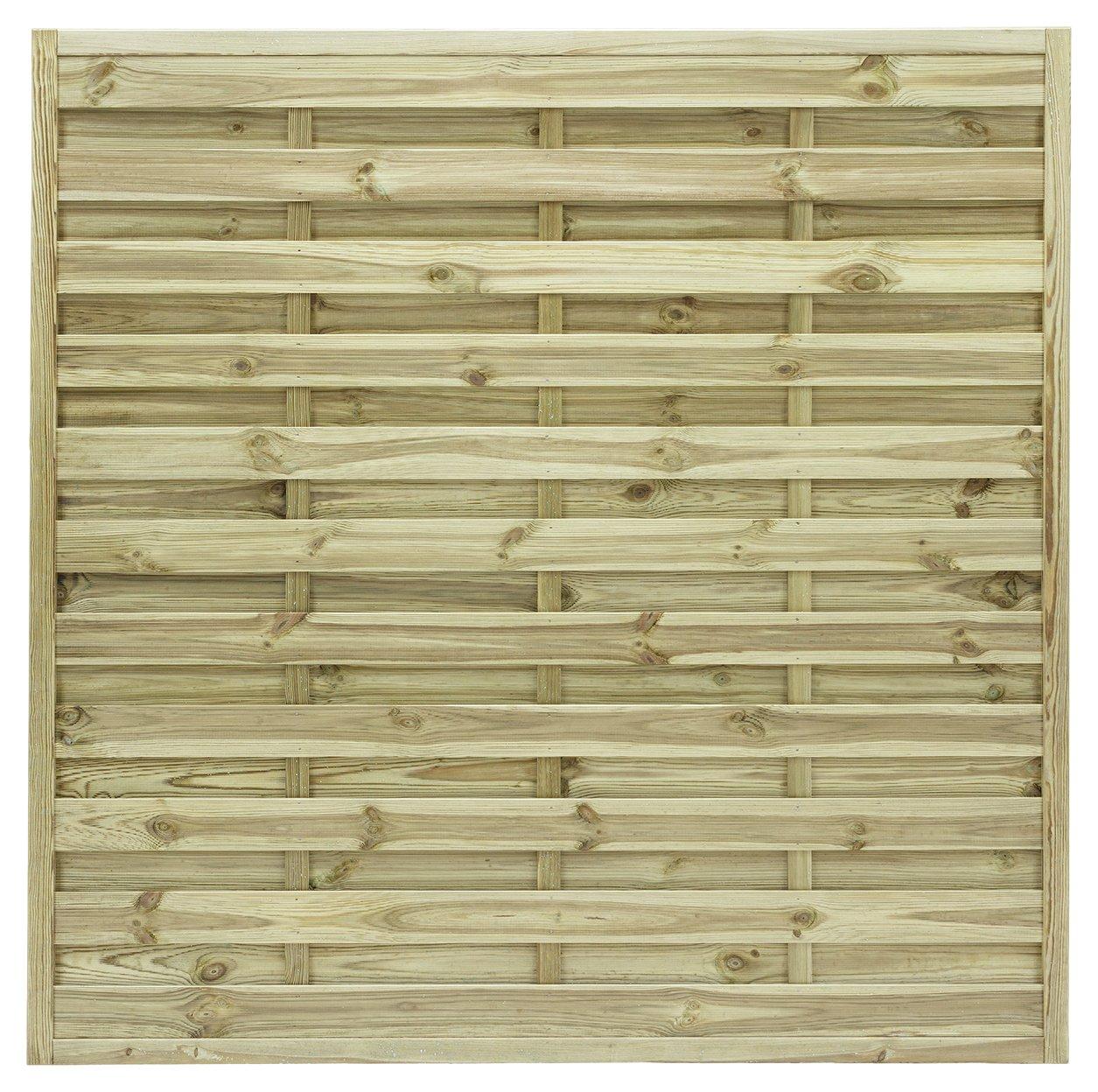 Grange 1.8m St Espirit Square Fence Panel - Pack of 5. lowest price