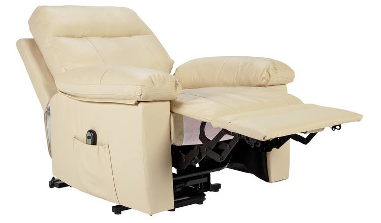 Buy Argos Home Paolo Riser Recline Leather Chair Ivory | Armchairs and chairs | Argos