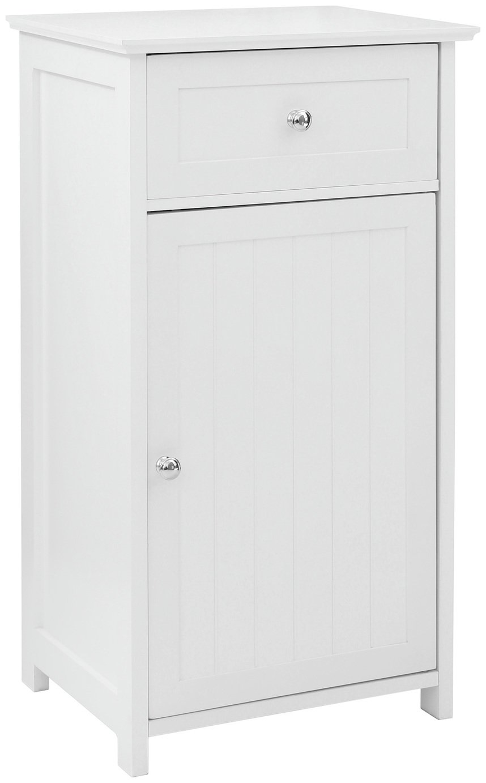 Premier Housewares Portland Wooden Cabinet with Shelf-White.