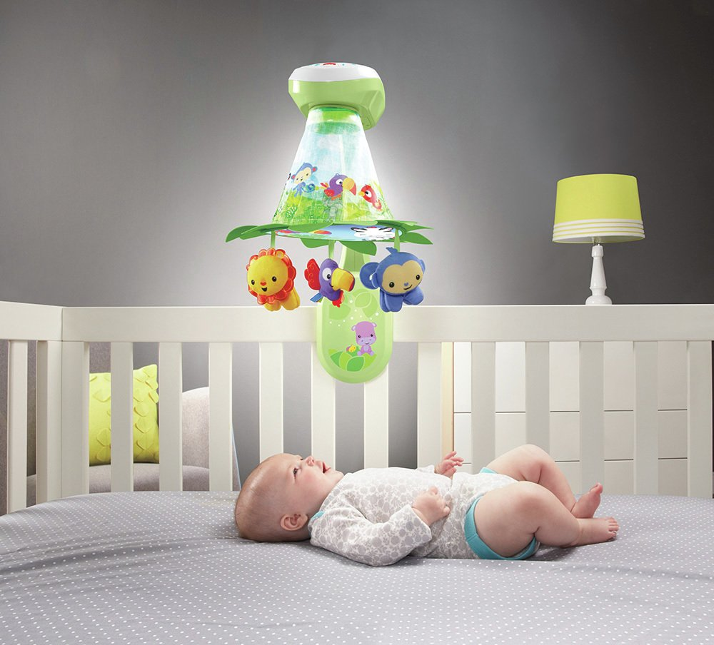 Image of Fisher-Price - Rainforest Grow-with-Me Projection Mobile