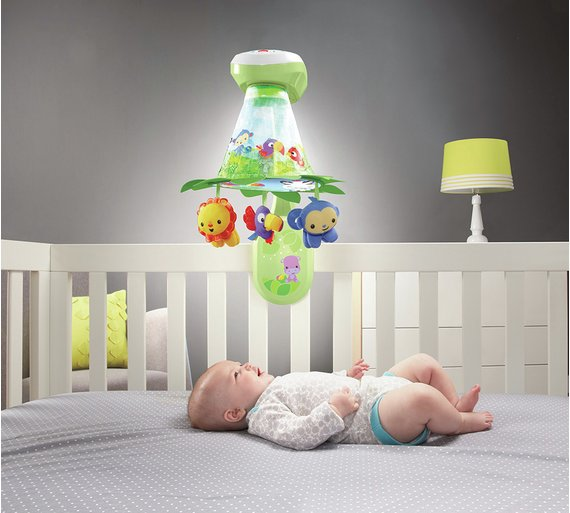 Buy Fisher Price Rainforest Grow With Me Projection Mobile Cot