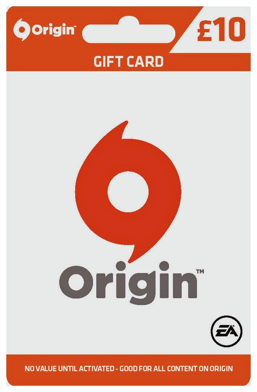 EA Origin £10 Voucher Card.