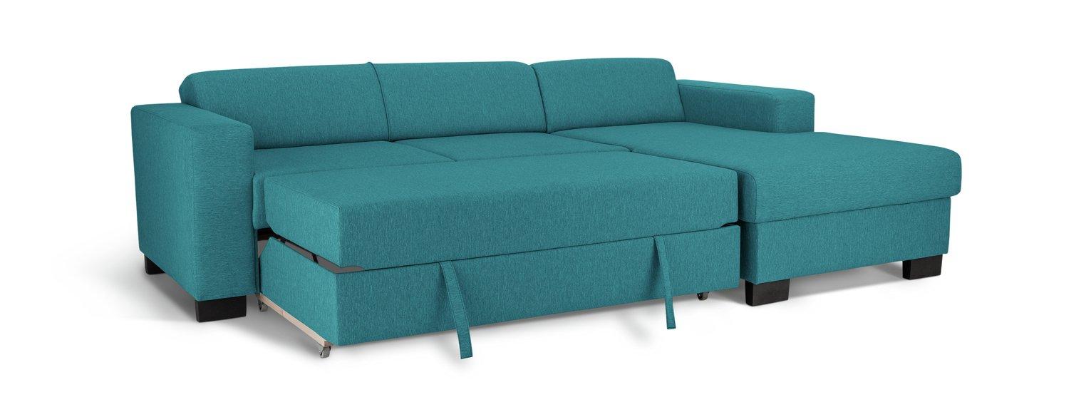 Habitat Ava Fabric Corner Sofa Bed - Teal