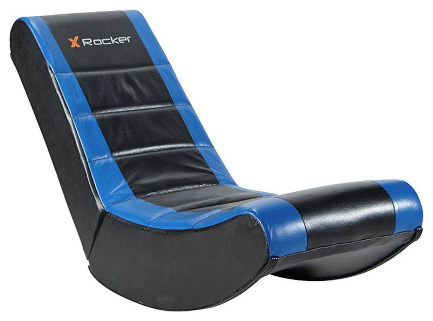 X Rocker Gaming Chair - Black and Blue.