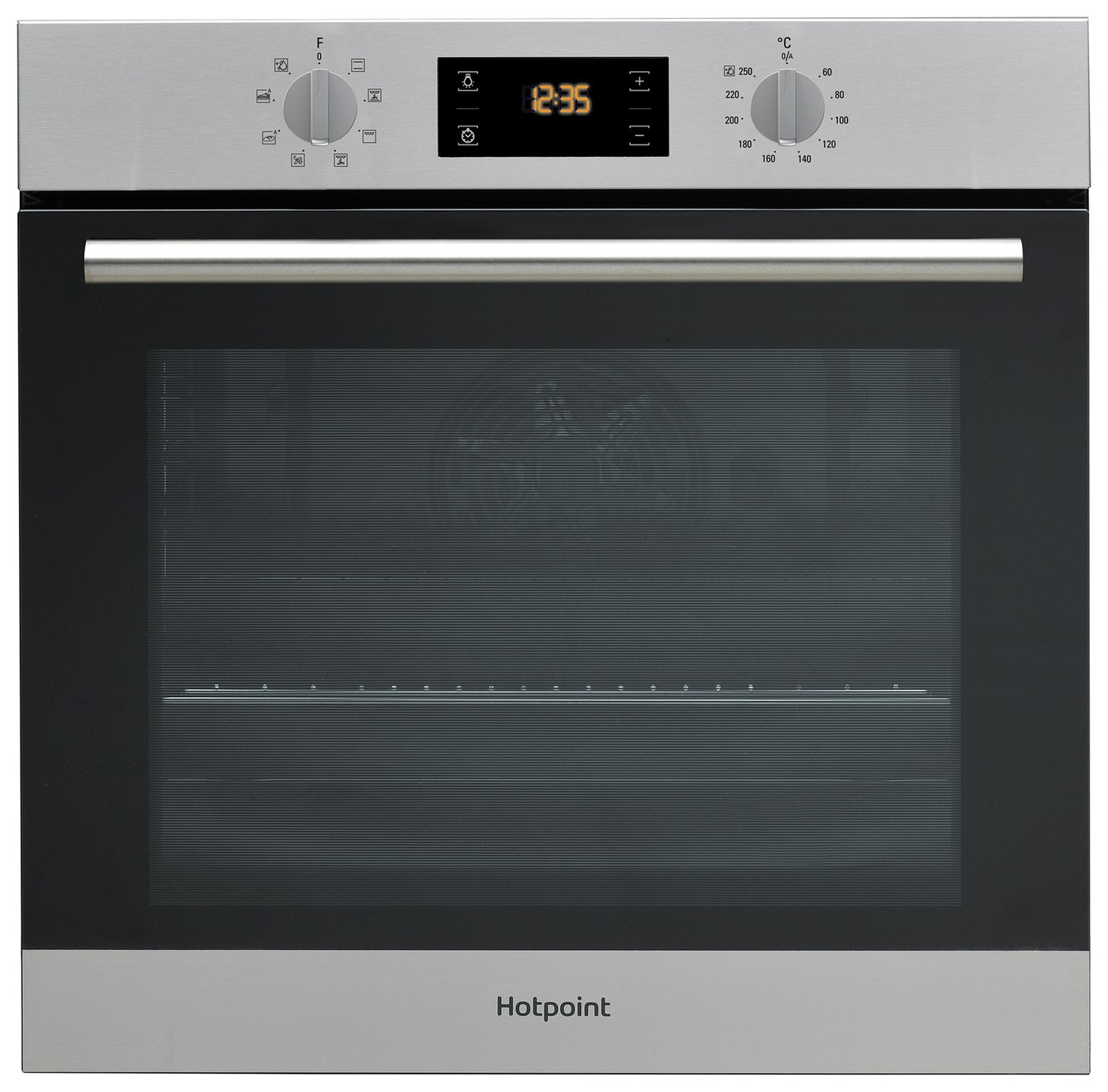 Hotpoint SA2540HIX Built-In Single Oven - Stainless Steel.