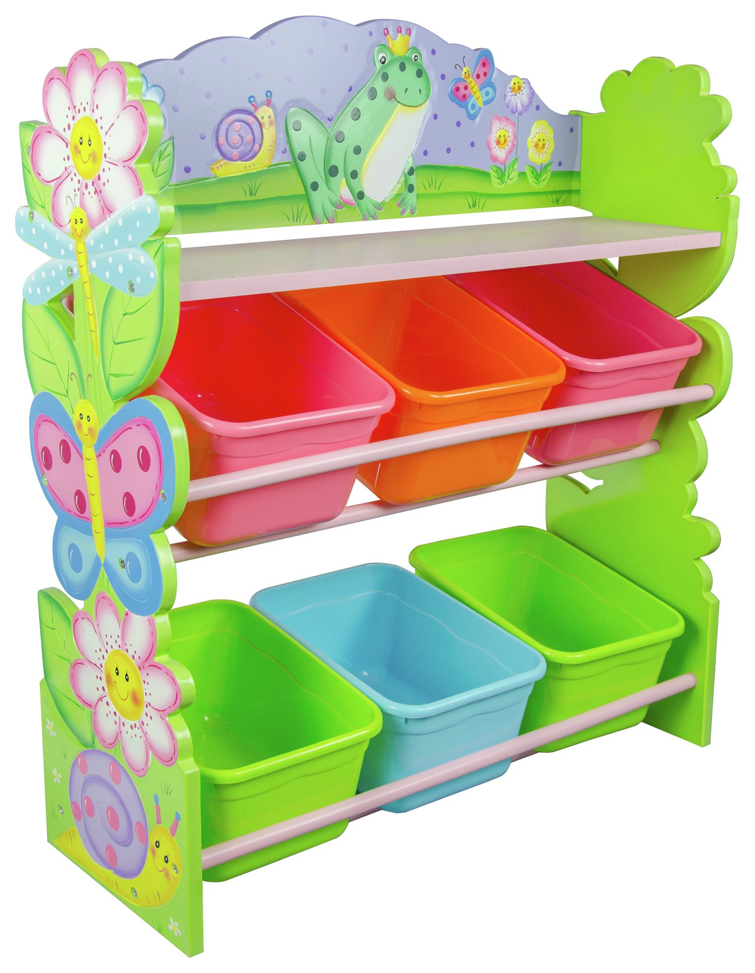 Image of Fantasy Fields Magic Garden 6 Bin Storage Cubby.