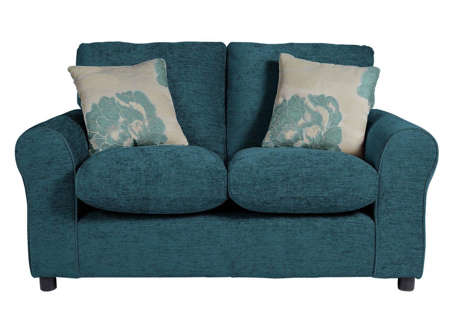 HOME - Tessa Compact 2 Seater - Fabric Sofa - Teal