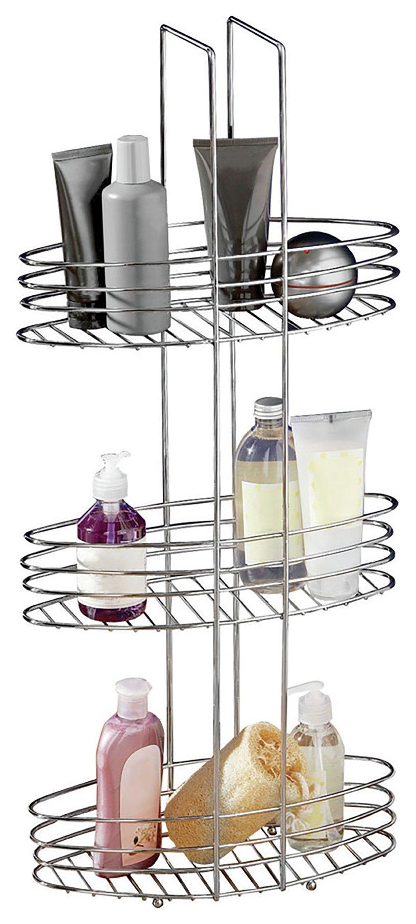 Premier Housewares 3 Tier Bathroom Organiser - Chrome.