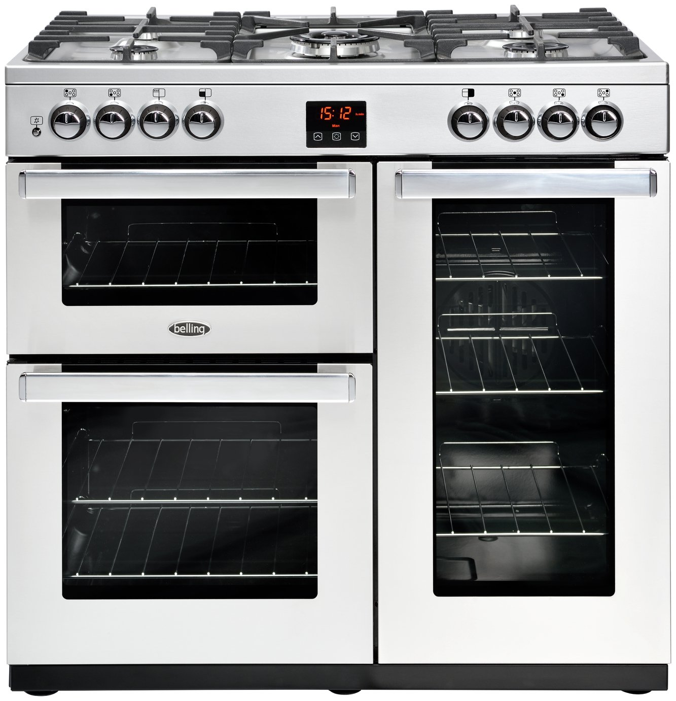 Belling Cookcentre 90G 90cm Gas Range Cooker - S/ Steel
