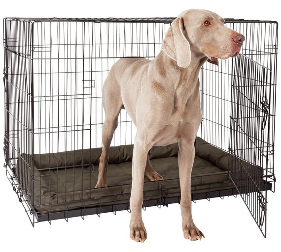 Buy Double Door Xxl Pet Cage Dog Kennels And Crates Argos