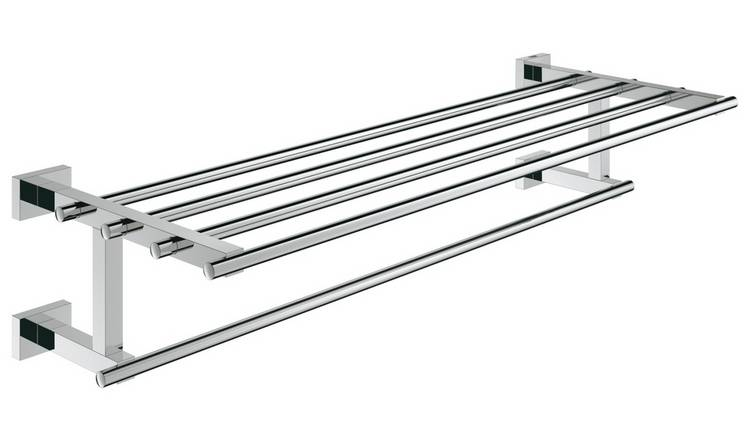 Grohe Essentials Cube Wall Mounted Multi Towel Rack - Chrome