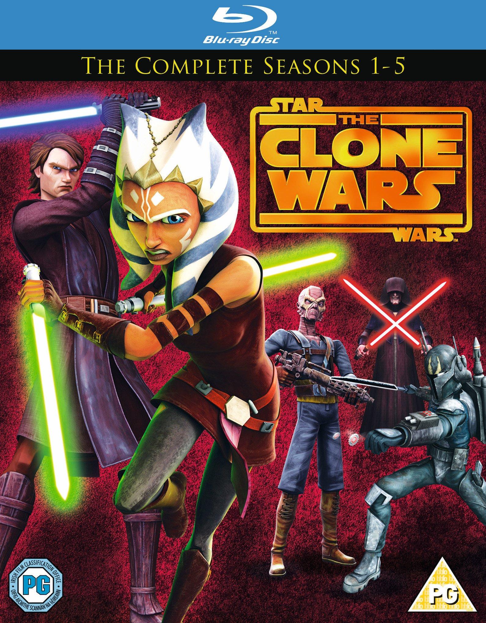 Star Wars STAR WARS: Clone Wars Season 1-5 Blu-ray Boxset.