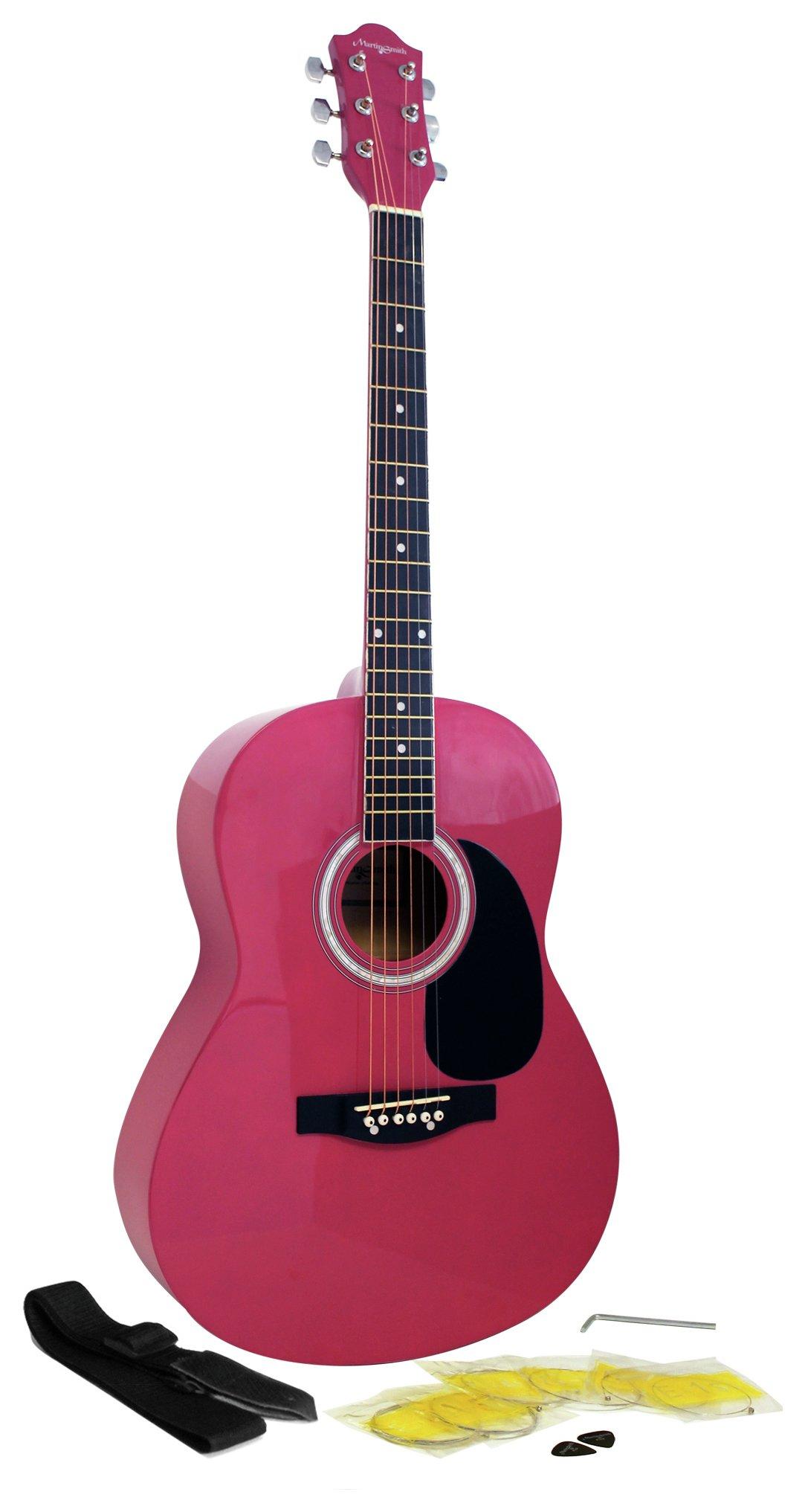 Martin Smith Full Size Acoustic Guitar Pink 5710986 Argos Price Tracker Pricehistory Co Uk