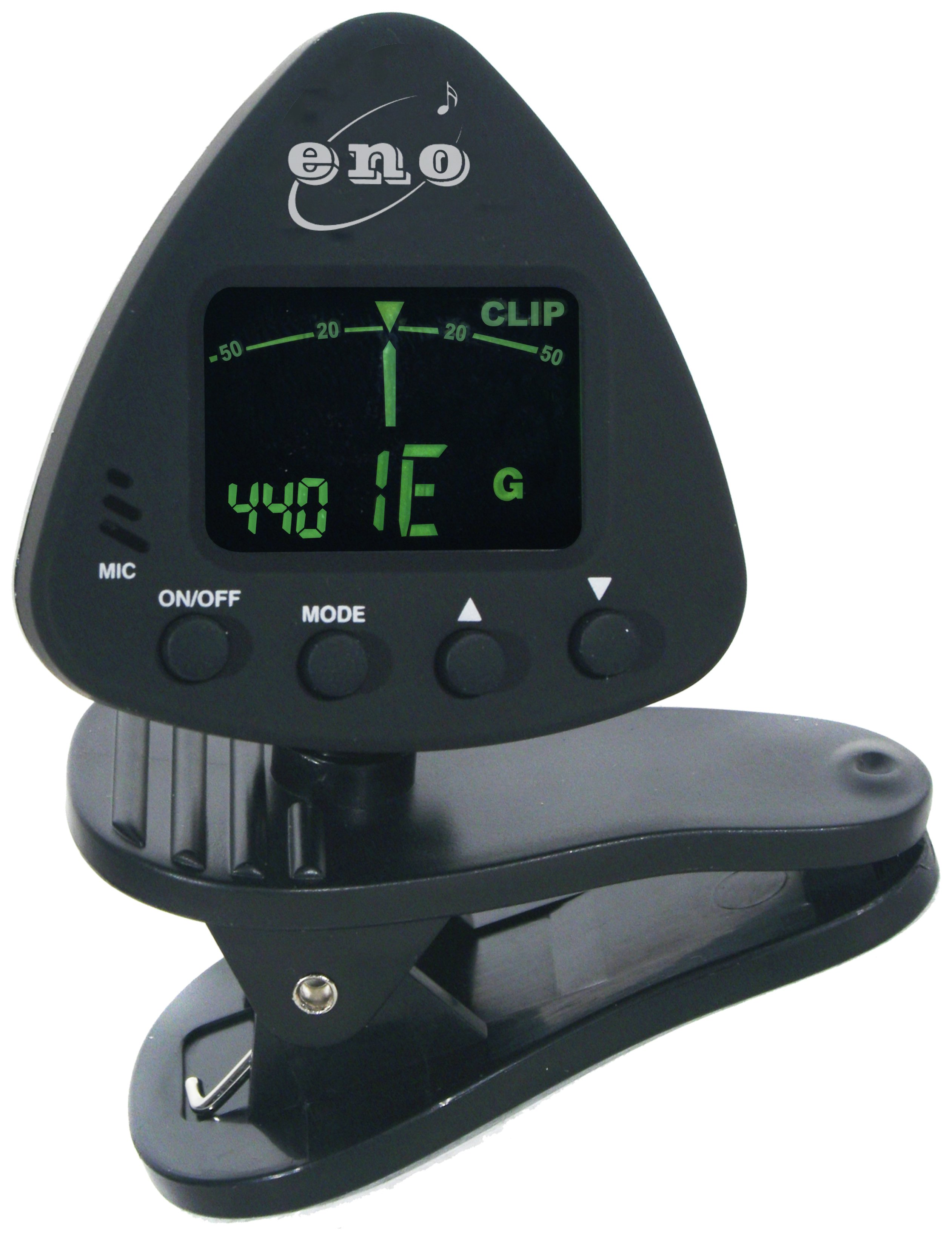Eno Clip On Chromatic Guitar Tuner with LCD Display