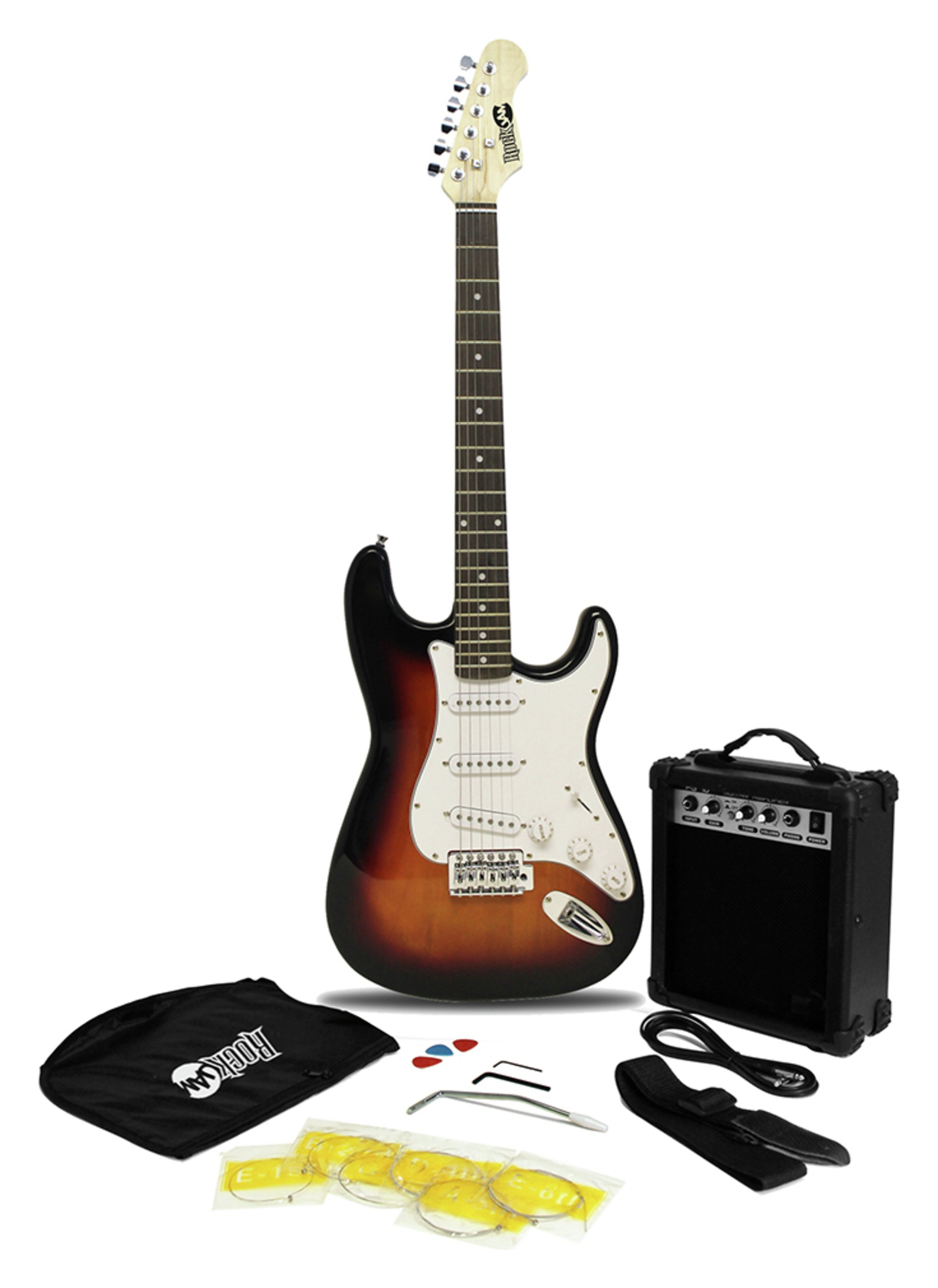 Rockburn Sunburst Electric Guitar Package