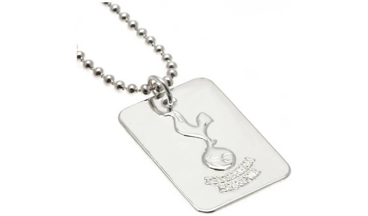 Silver Plated Tottenham Dog Tag & Ball Chain