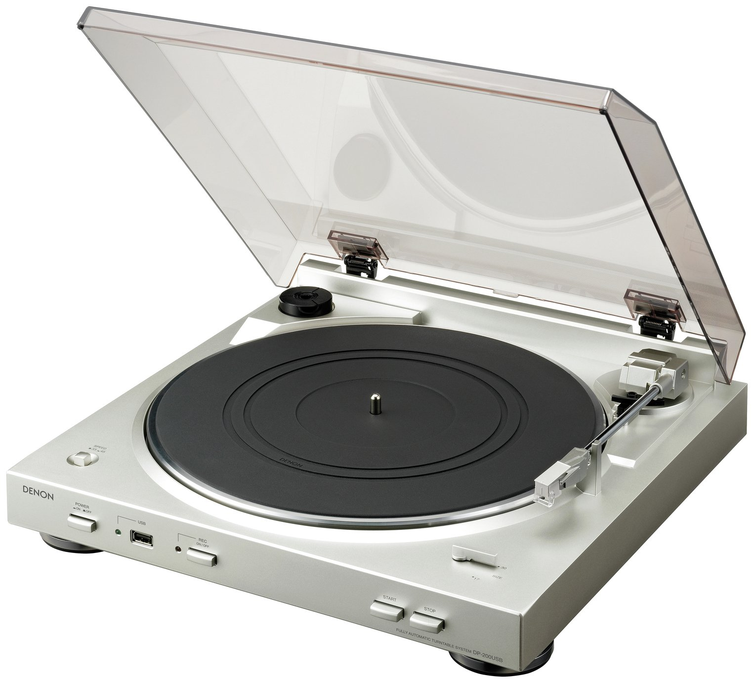 Image of Denon - DP-200USB Turntable - Silver