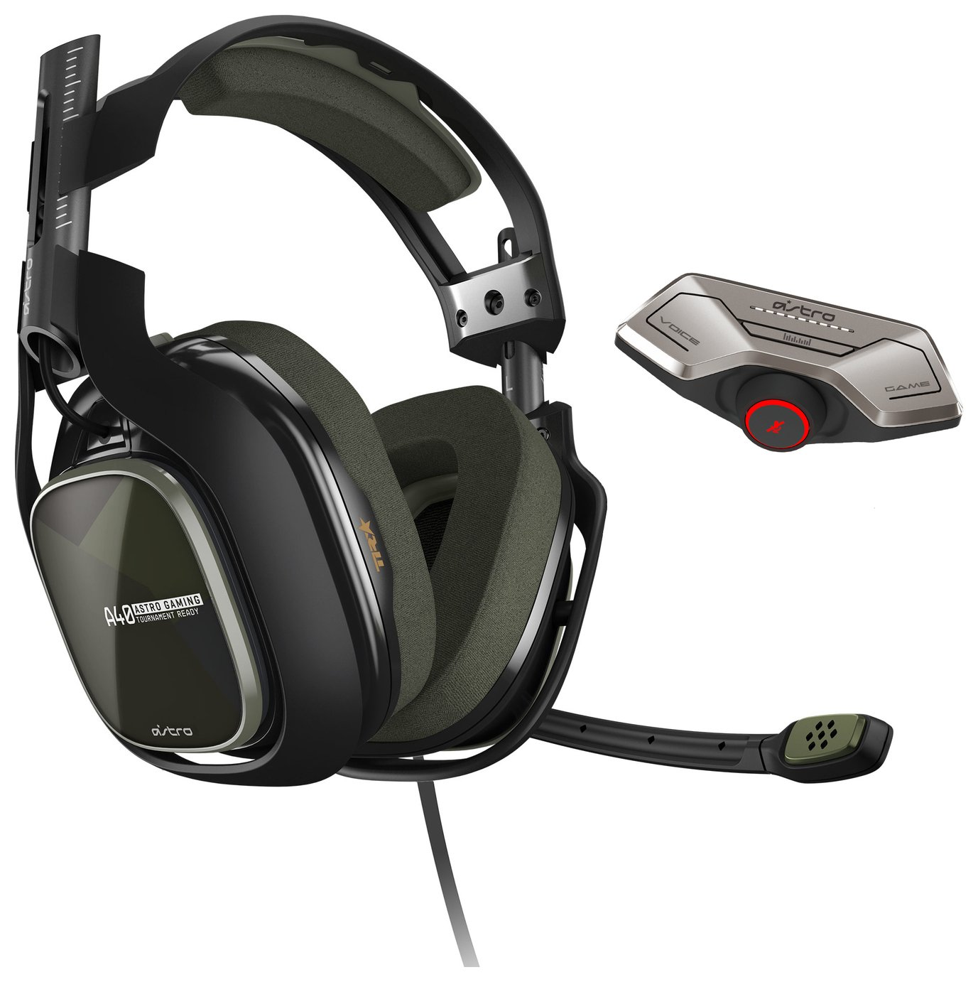 Image of Astro A40 TR Headset and MixAmp M80 for Xbox One - Green.