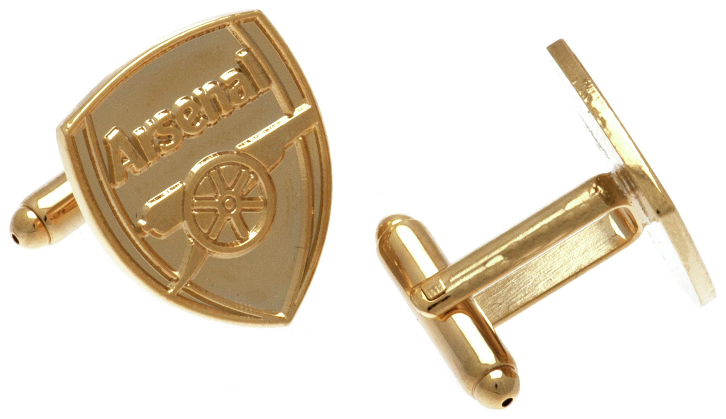 Image of Gold Plated Arsenal Cufflinks.