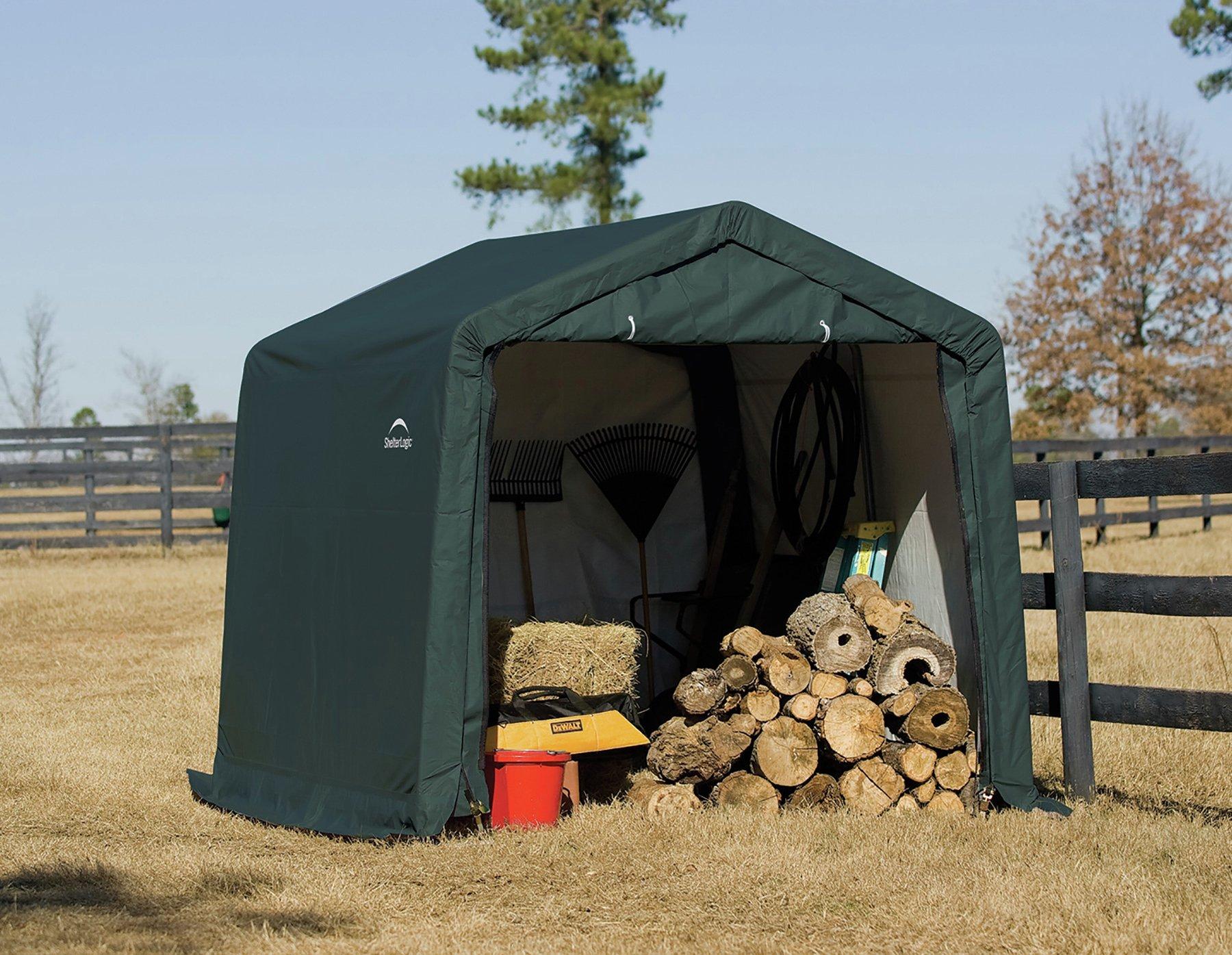 'Shelter Logic Peak Style Plastic Storage Shed - 10 X 10ft