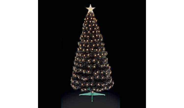 4ft Christmas Tree.Buy Premier Decorations 4ft Christmas Tree With Led Stars Black Artificial Christmas Trees Argos
