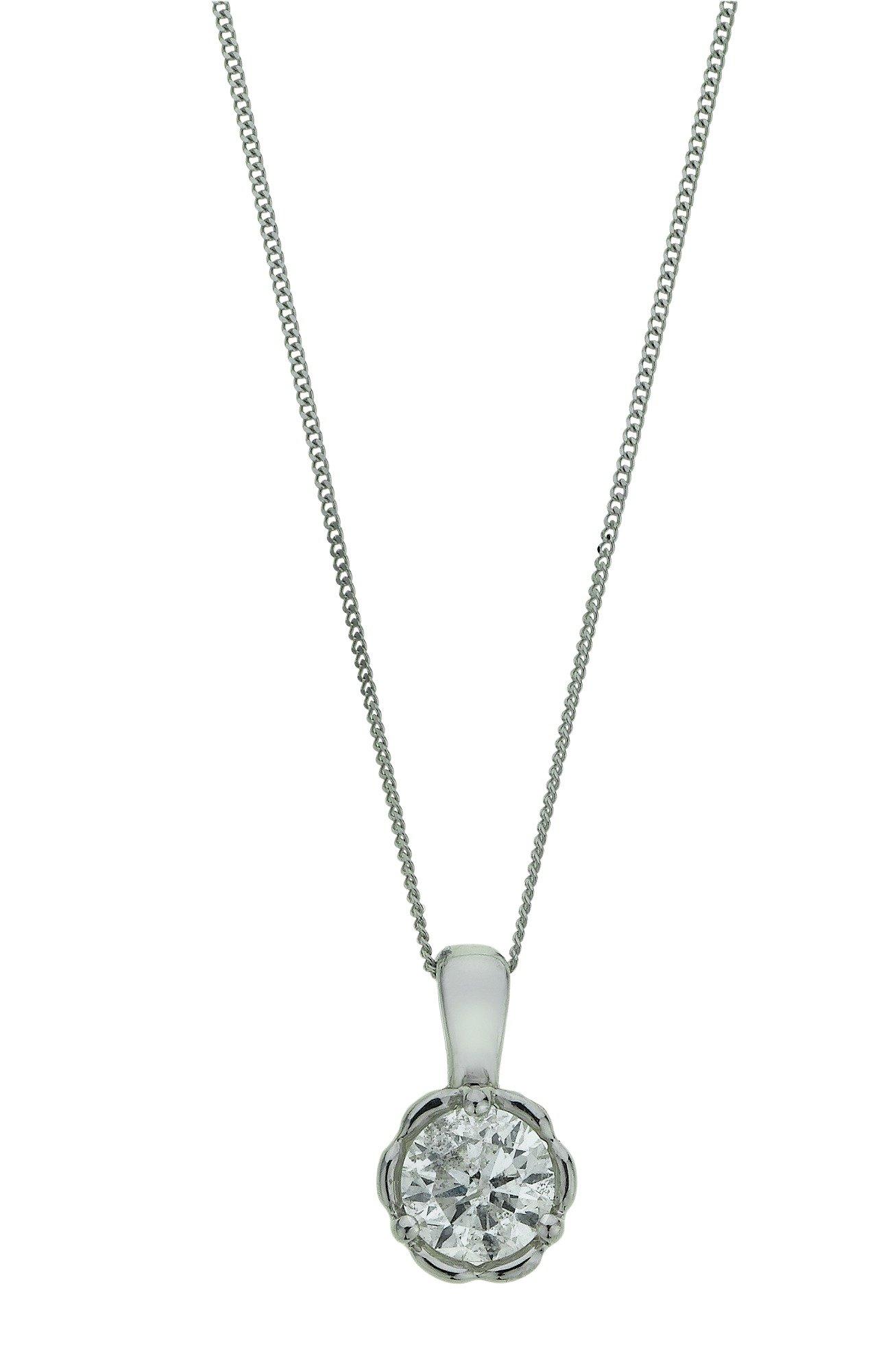 Image of Enchanted - 9 Carat White Gold - 0.50 Carat Diamond Pendant.