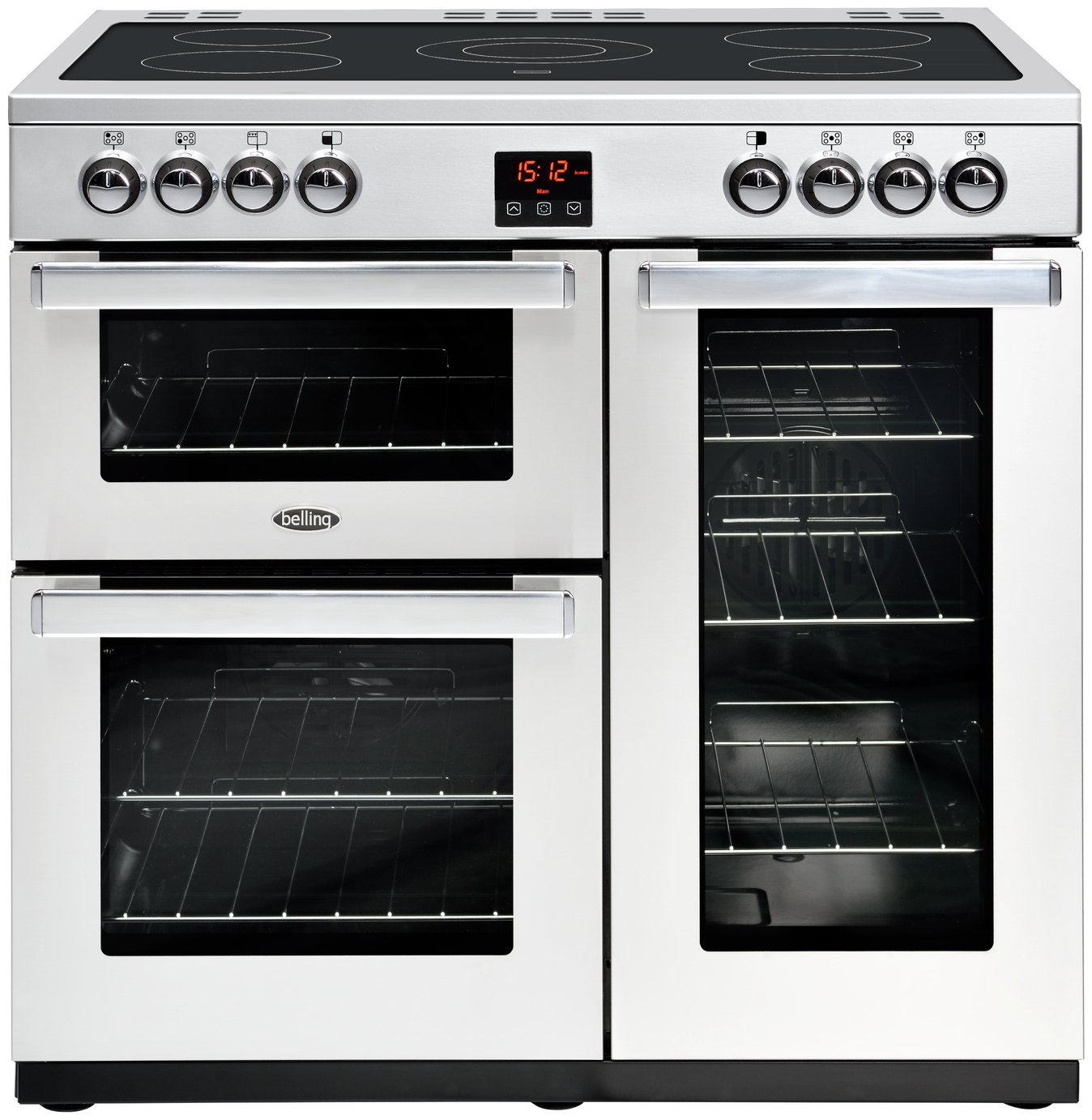 Belling Cookcentre 90E 90cm Electric Range Cooker - S/ Steel