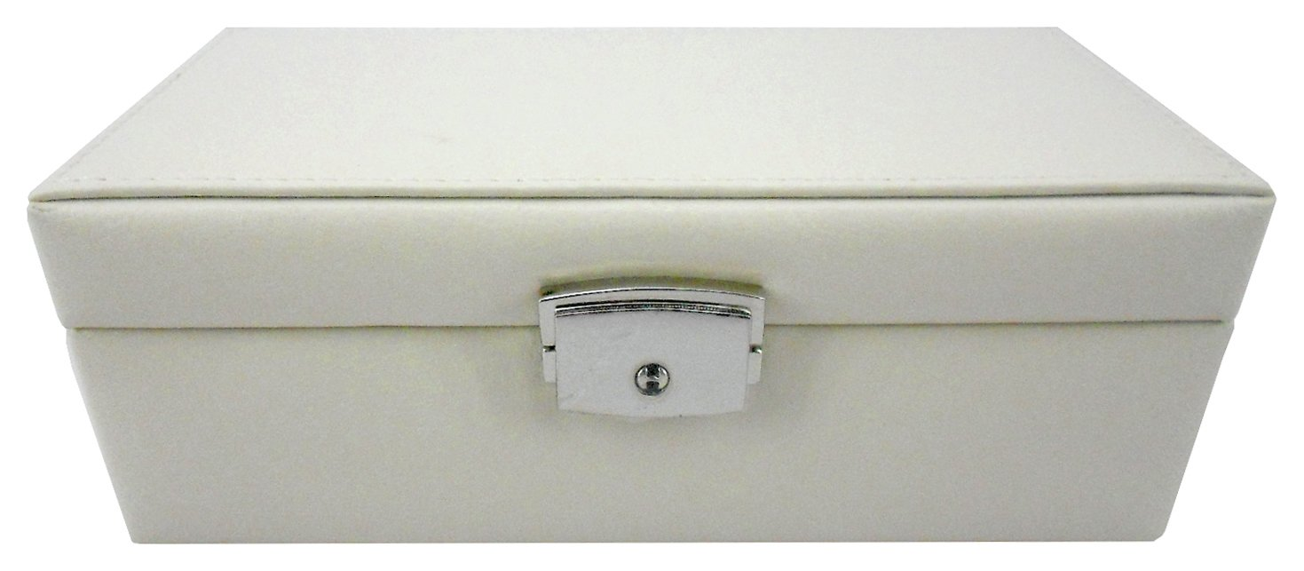 Image of Cream - Jewellery Box with Lock
