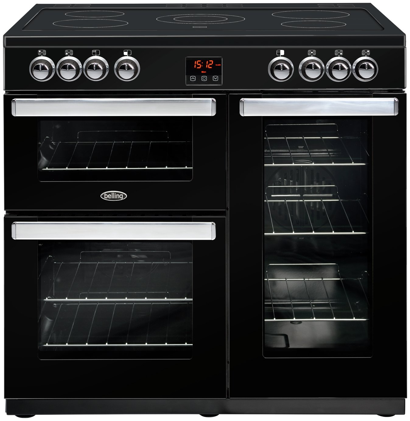 Belling Cookcentre 90E Electric Range Cooker - Black