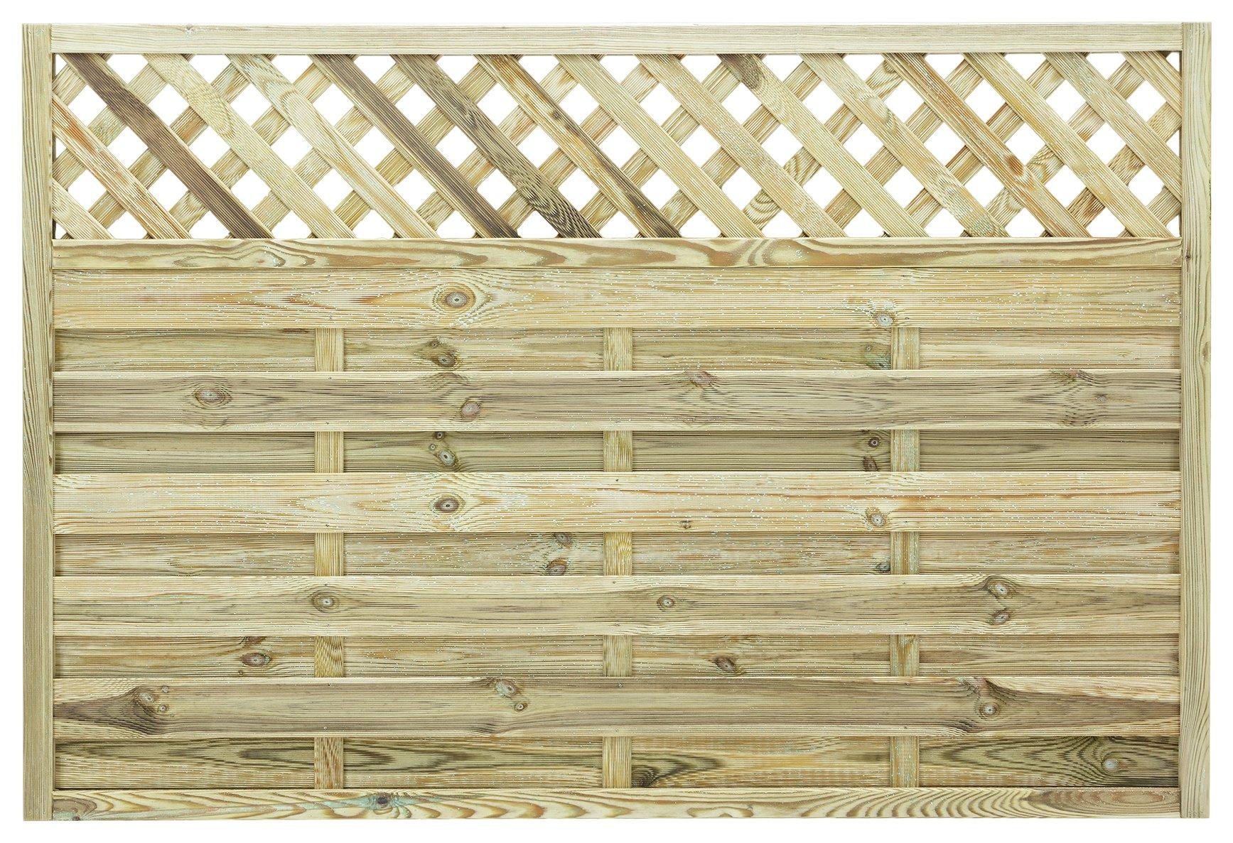 Grange - Elite St Malo 12m Fence Panel - Pack of 4 lowest price