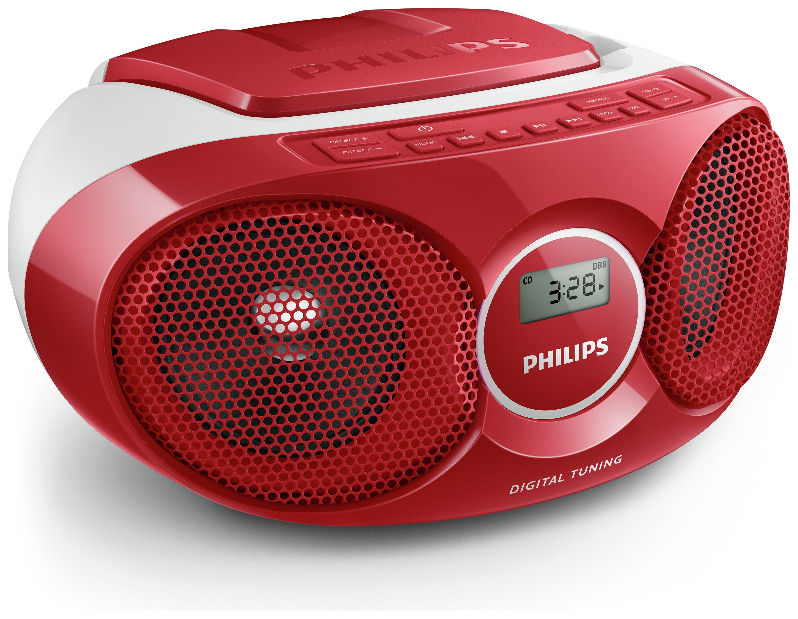 Philips Philips - AZ215R/05 Boombox - Red
