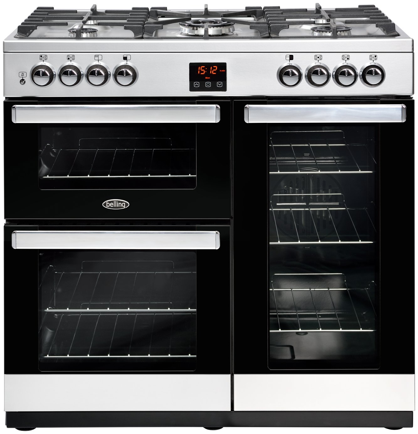 Belling Cookcentre 90G Gas Range Cooker - Stainless Steel