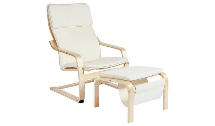 Buy Argos Home Bentwood High Back Chair & Footstool Natural | Armchairs and chairs | Argos