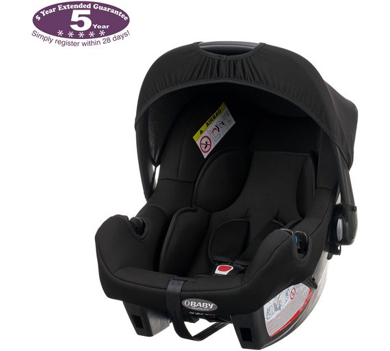 Buy OBaby Zeal Car Seat - Black | Car seats | Argos